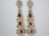 Cercei Chandelier Crystal Red